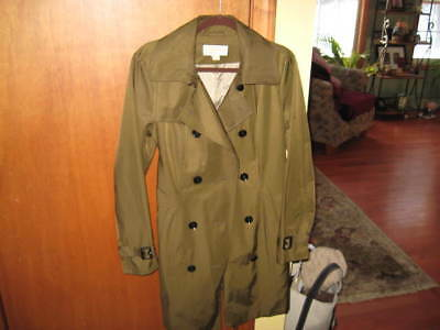 New Mint With Tags Michael Kors Trenchcoat Pain Coat Msp 220