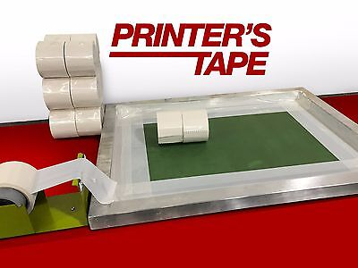"""3"""" White Screen Printing Tape solvent resistant FREE SHIPPING"""