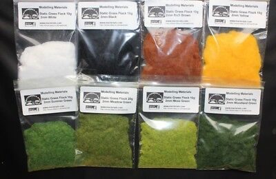 Static Grass for Model Railway 2mm Multipack x 8 Packets Layout Scenery Diorama