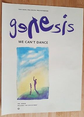 Original  genesis Phil Collins  magazine ad for album we can't dance App 23x30cm