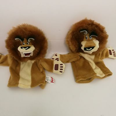 Comfort Persil ALEX THE LION from Madagascar 2 Escape 2 Africa x2 hand puppets