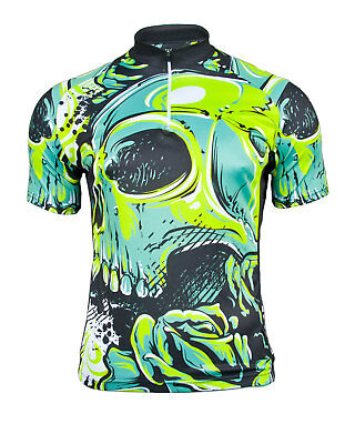 MIMO DESIGN GRUNGE SKULL Men s Cycling Jersey Short Sleeve Bike Bicycle Top fe8df5fd9