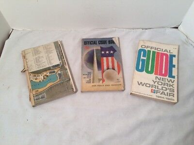 Vintage Lot of 3 New York Worlds Fair Guide Books 1939, 1940, 1964/1965