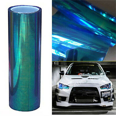 "12x39""Chameleon Clear Tail Tint Car SUV Headlight Van Fog Light Vinyl Film Cover"