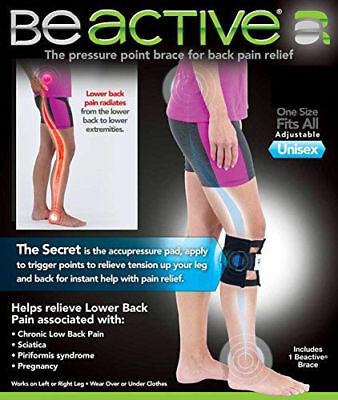 Back Pain Acupressure Sciatic Nerve Be active Brace Point Pad Leg knee support