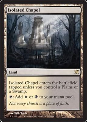 1x ISOLATED CHAPEL - Rare - Innistrad - MTG - NM - Magic the Gathering
