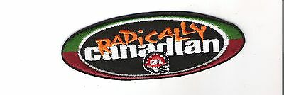 """Crest Patch - CFL Canadian Football League - Radically Canadian 5 1/2"""""""