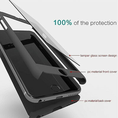 360 hybrid Protecton Screen for iphone 8 8+ 7 5 6 6S case cover front and back