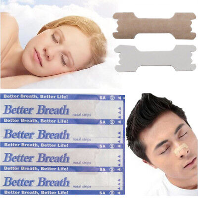 60PCS Better Breath Nasal Strips Large Anti Snoring Sleep Right Aids Stop Snore