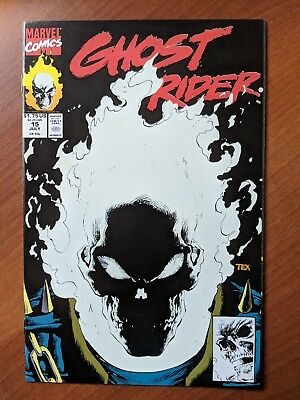Ghost Rider #15 Nm 1991 Glow In The Dark Cover Mark Texeira