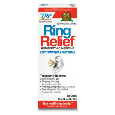 Ring Relief Homeopathic Ear Drops Tinnitus Ringing Treatment