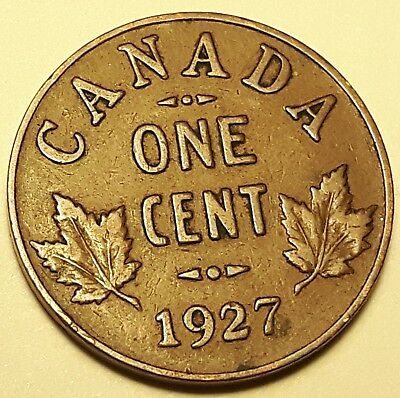 1927 Canada 1 Cent Penny George V Semi-KEY DATE #157