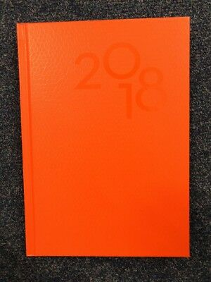 2018 Last Diary Company A5 Day To Page DTP Brights Snake Orange