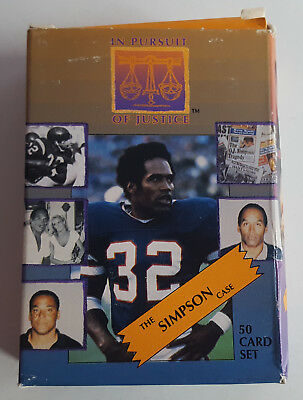 1994 The Simpson Case, In Pursuit Of Justice, 50 Card Set, Interlink, O J.