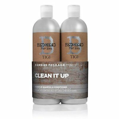 BED HEAD by TIGI for Men Clean Up Tween Duo Daily Shampoo & Conditioner for