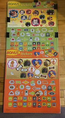 2 Sets of Cardboard Dog & Cat Stickers+Event & Calendar Stickers Over 120 Total
