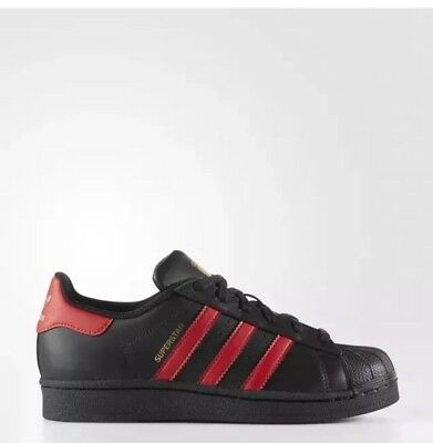 NEW Adidas Originals Superstar Shoes Athletic Sneakers Youth Boys 6 Black RARE
