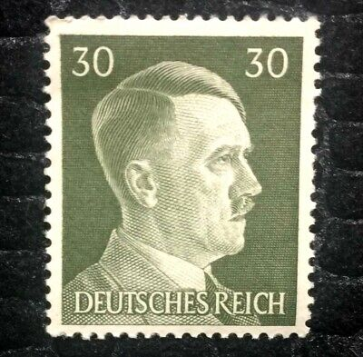 Rare Old Antique Authentic WWII German Unused Stamp - 30Rp
