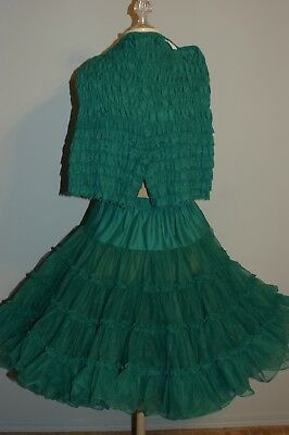 Square Dance Petticoat and Matching Pettipants - Green