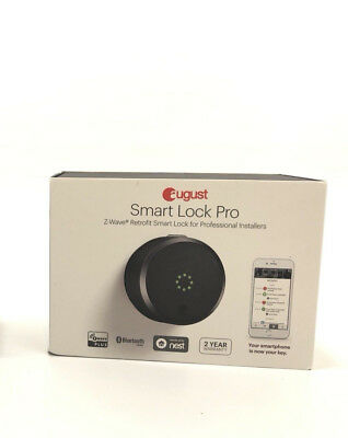 August Smart Lock Pro 3rd Generation Gray Z-Wave Enabled New In Box