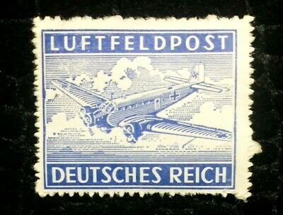 Rare Old Antique Authentic WWII German Plane Unused Stamp