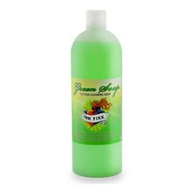 INK FIXX Jabon Verde Limpieza Tatuaje - Tamaño 500ml o 1Lt - Tattoo Green Soap
