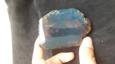 47 gr Rough polished Indonesian Blue green Amber 85x45x11 mm