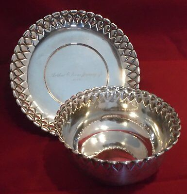 Tiffany Sterling Silver 1 1/4 pint Bowl and Underplate c.1900 430g