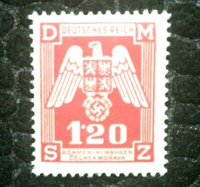 Rare Old Antique Authentic WWII German Eagle Unused Stamp - 1.20K
