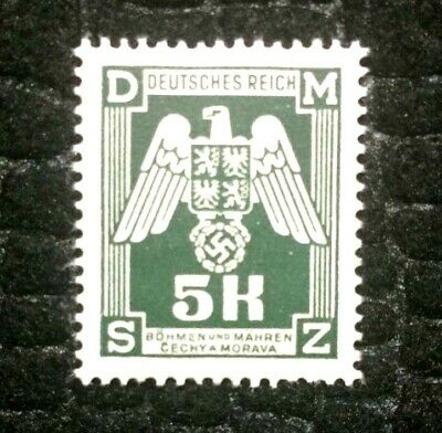 Rare Old Antique Authentic WWII Eagle Unused German Stamp - 5K