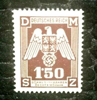 Rare Old Antique Authentic WWII German Eagle Unused Stamp - 1.50K