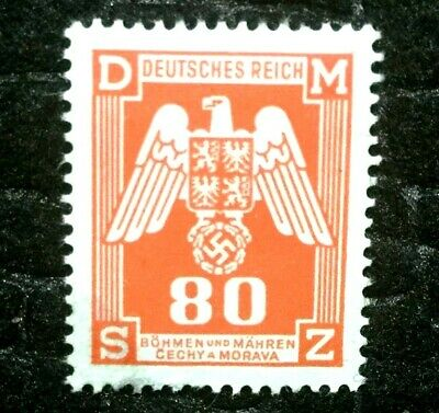 Rare Old Authentic WWII German Eagle Unused Stamp - 80K