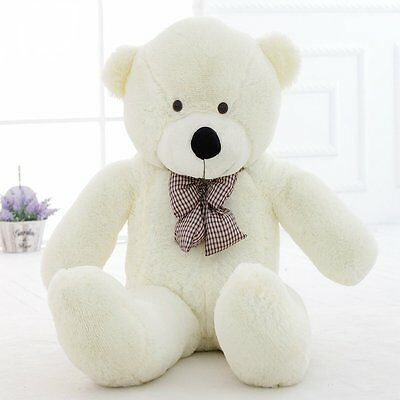 120cm/47''Giant Big Huge Toys doll White Teddy Bear Plush Stuffed Soft kids Gift