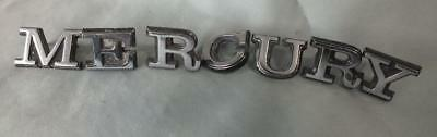 "VINTAGE Medium MERCURY 3/4"" Emblem Letters YEAR? Unknown"