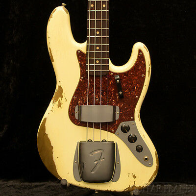 Fender CS: 1964 Jazz Bass Heavy Relic Faded Vintage White NEW