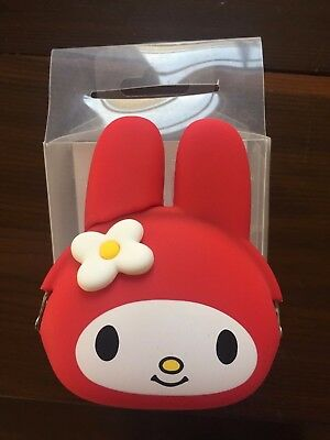 p+g design mimi POCHI My melody Sanrio Coin Pouch Silicon RED From Japan