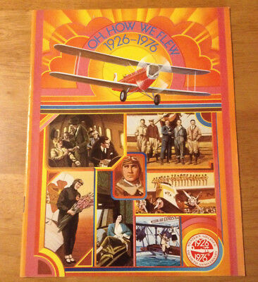 1976 Vintage Western Airlines 50th Anniversary Oh How We Fly Magazine Booklet