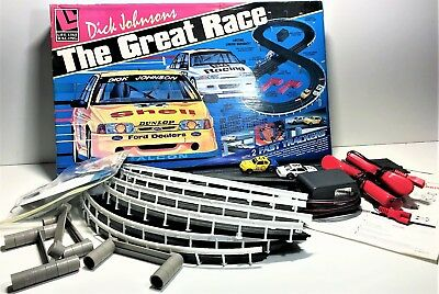 Vintage  Ford Dick Johnson - The Great Race Slot Car Set Afx Complete