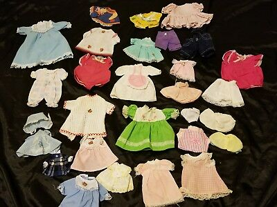 Vintage Antique Baby Doll Clothes Various Small Size Dresses