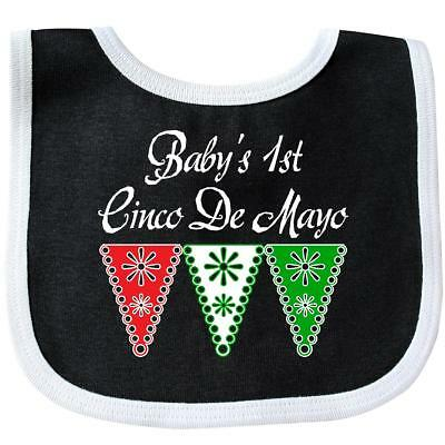 Inktastic Babys 1st Cinco De Mayo Party Banner Baby Bib First Fiesta Red Green