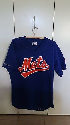 Vintage New York NY Mets Mesh Majestic Batting Practice Jersey Men's LARGE L