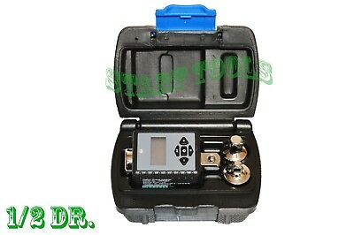 """1/2"""" Dr. Digital Torque Wrench Adaptor Micro Meter Unit w/ 3/8"""" & 1/4"""" Reducers"""