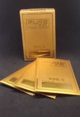 Pure 24k Gold Rolling Papers 1 1/4 Size 1 pack (2 Sheets) Shine gold rolling