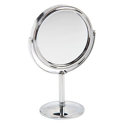 Double Sided Chrome Round Magnifying Cosmetic Shaving Bathroom Swivel Mirror UK