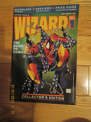 Wizard No 1 Mcfarlane  Price Guide With Poster 1991 Uncirculated Unread Nm