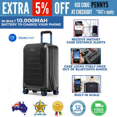 Smart Luggage Carry On Trolley Bag 4 Wheels Hardcase for Travel Bluesmart