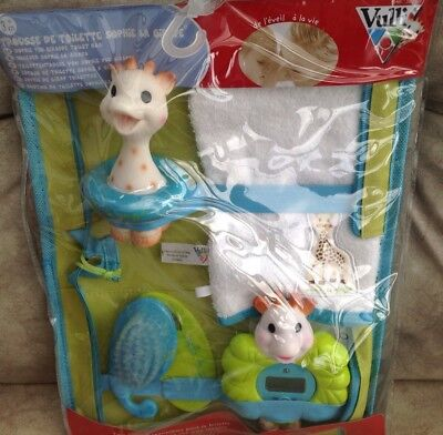 Vulli Sophie The Giraffe Toilet Bag Brand New In Sealed Packet.all Contents Inc