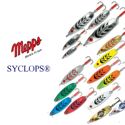 Mepps Syclops Spoon Lures Tiger Phosho Black Silver Gold - 7 colours All Size