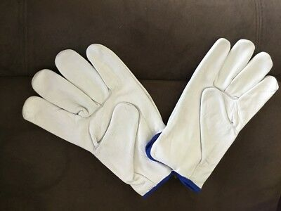 12 Pack - Quality Cow Hide Leather Riggers Gloves with strong Kevlar stitching