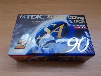 TDK SA 90 Duo-Pack Neu & OVP / Sealed Kassette Tape